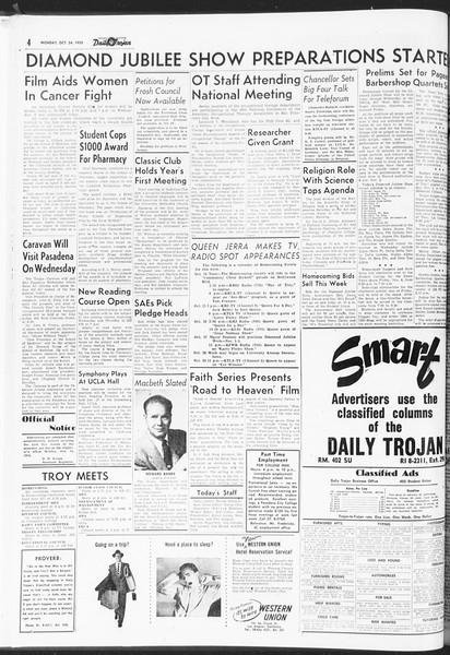 Daily Trojan, Vol. 47, No. 27, October 24, 1955