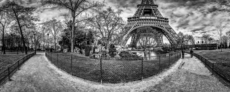 Lagoon waterfall - (South-West Eiffel Tower pillars)