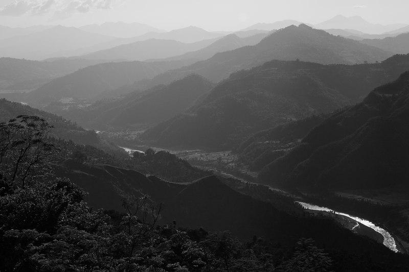 A valley near Baseri just off the Manaslu trail.