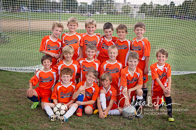 Boys Grades 3-4 Fall Soccer Team Photo