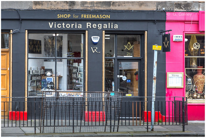 Victoria Regalia Freemasonry shop, Johnston Terrace
