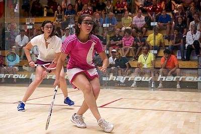 2011-07-23 Quarterfinals: Nour El Sherbini (Egypt) and Nouran El Torky (Egypt)