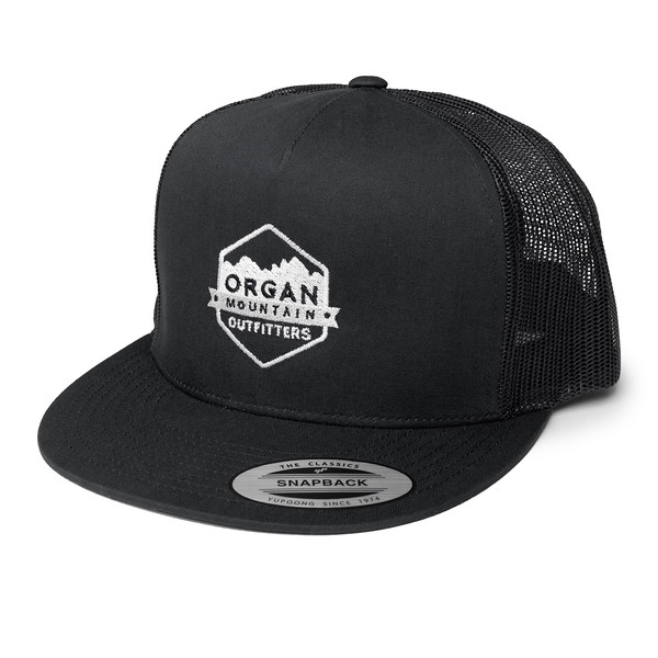 Organ Mountain Outfitters - Outdoor Apparel - Hat - Five Panel Classic Trucker Cap - Black White.jpg