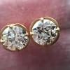 2.23ctw Old European Cut Diamond Stud Earrings 6