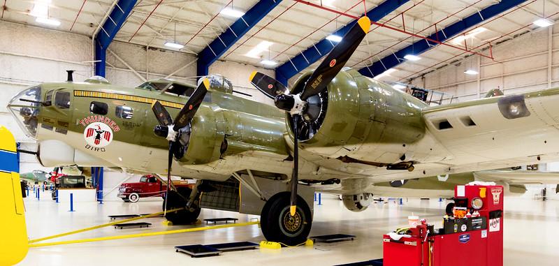 Boeing B-17, Flying Fortress -- a WW-II mainstay