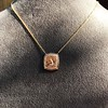 'Joys I Double, Sorrows I Divide' 18kt Rose Gold Cast Pendant, by Seal & Scribe 23