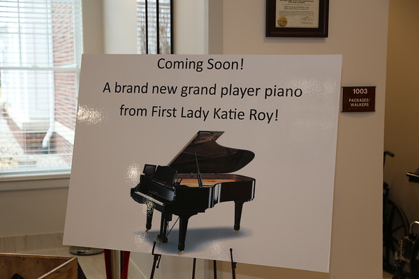 Grand Player Piano Arrives at Med Center 11-26-2019