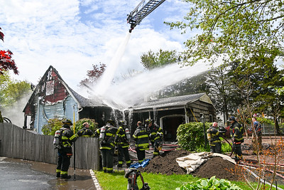 FIre Rages Through Home In Holbrook {2021.05}.09