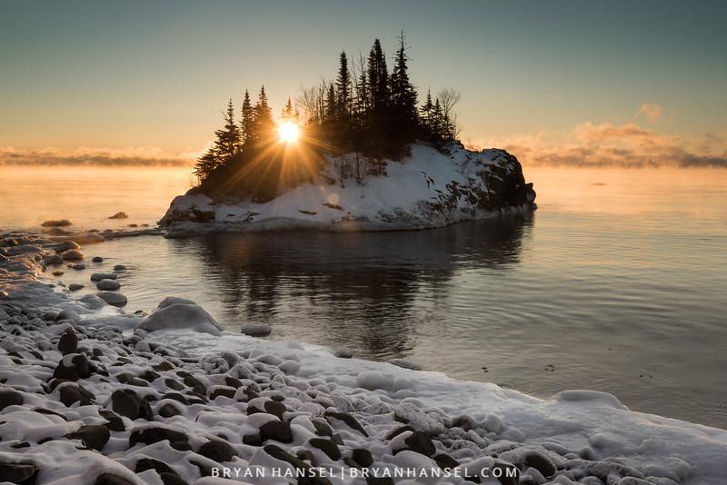 Sunburst at the Rock