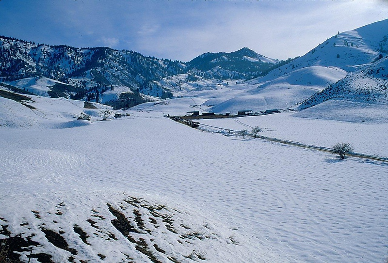 The Nehalum Valley near Cashmere, WA in the winter.