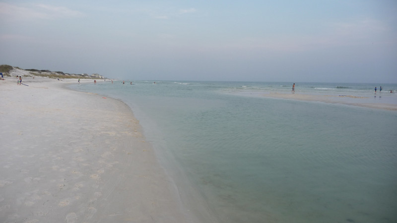 The beach was rarely crowded.