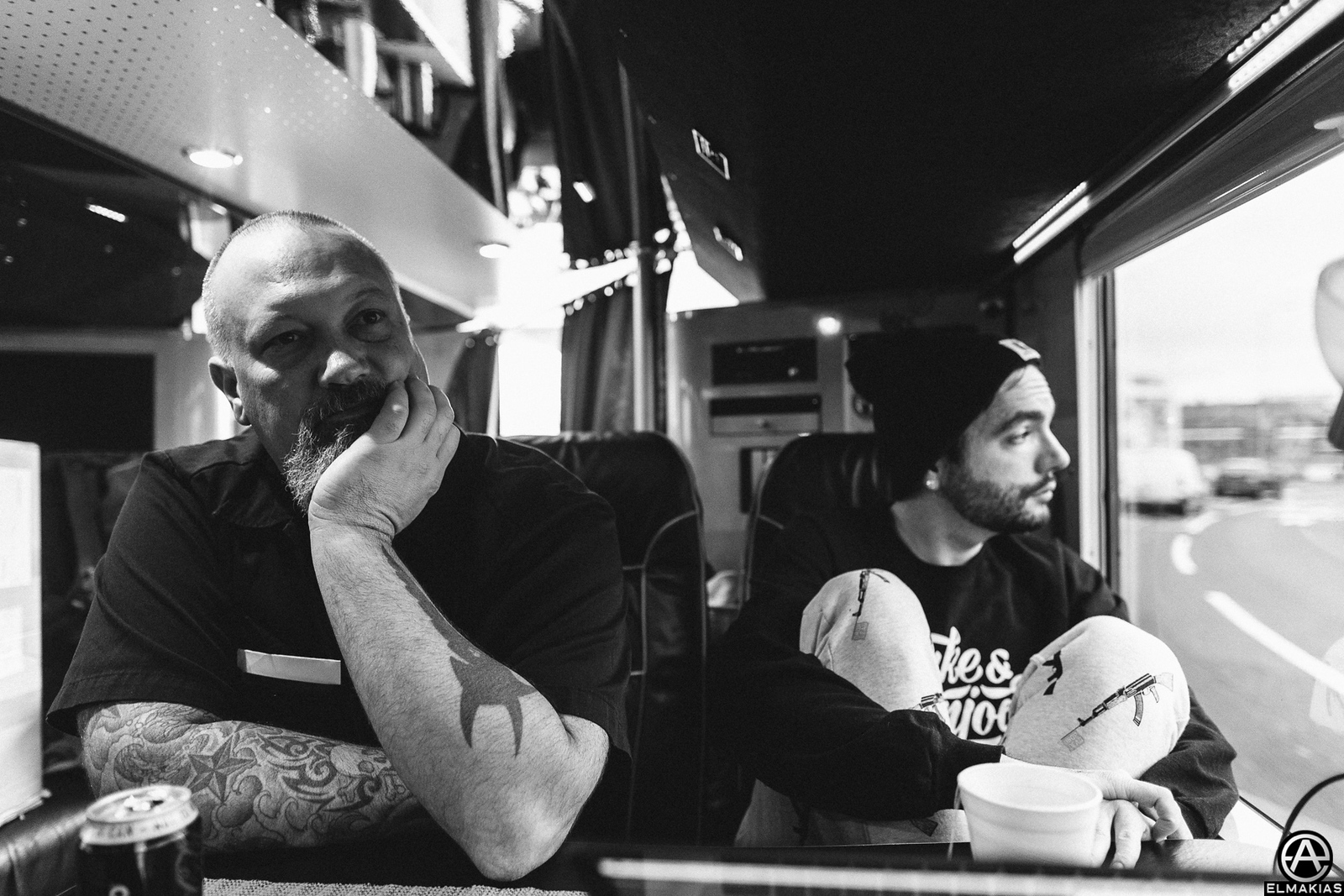Morning of the show, Tour Manager Andrew Weiss and Jeremy McKinnon