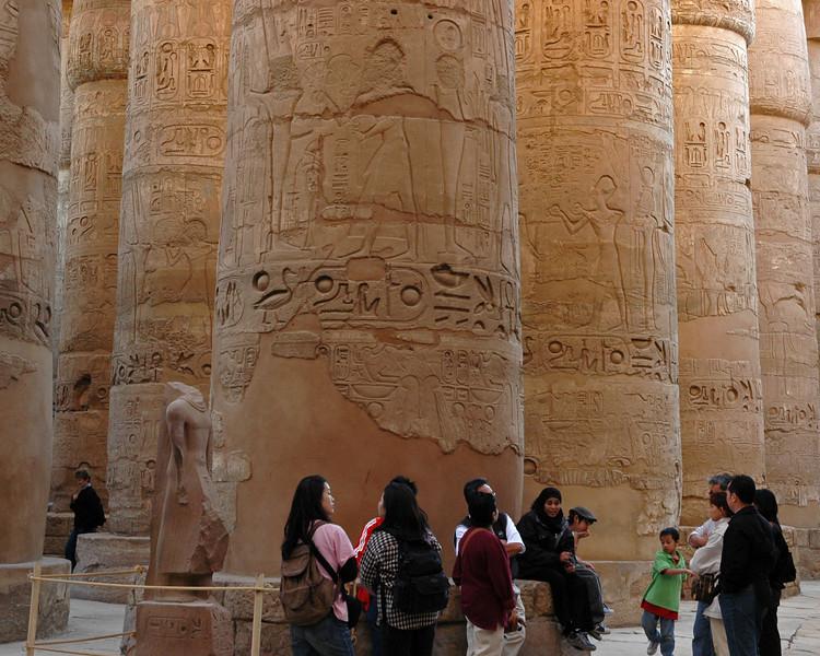 inside the temples of karnak