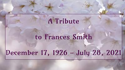 Frances Smith Memorial Service 8-22-21