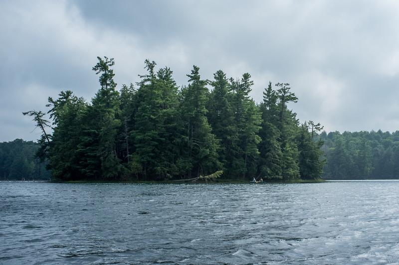 """Naked Tsavo Island"" on High Lake."
