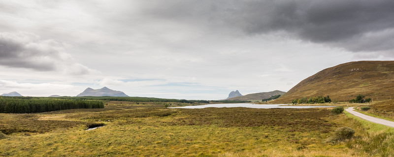Loch Borralan and the mountains of Assynt