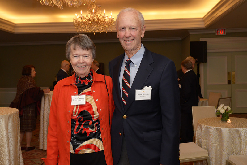 NEHGS Trustee Lynn Trowbridge and Thomas Trowbridge.