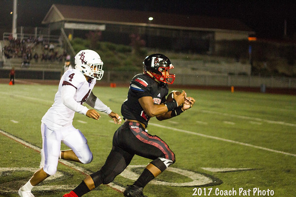 2017 09 08 Vista High School Panthers 22 v. Rancho Buena Vista Longhorns 23