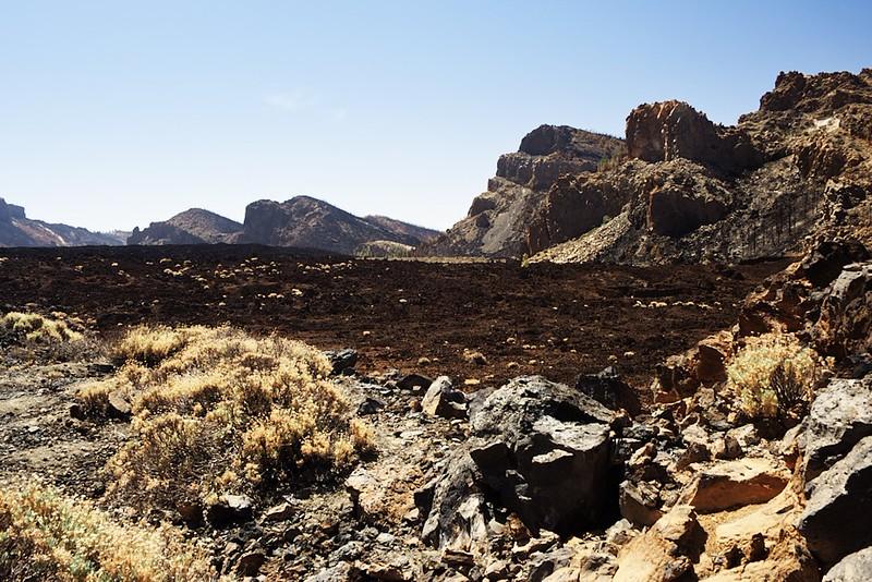 Kaldera Caňadas z vyhlídky u Pico Viejo