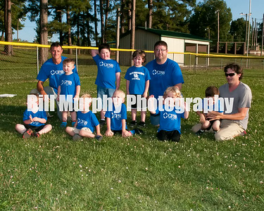 3 - 4 Boys T- Ball Blue CFSB Team Coaches Steven Wagner & Tracey Morris, June 3, 2014.