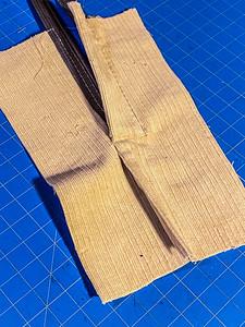 How to: zipper in a flat-fell seam
