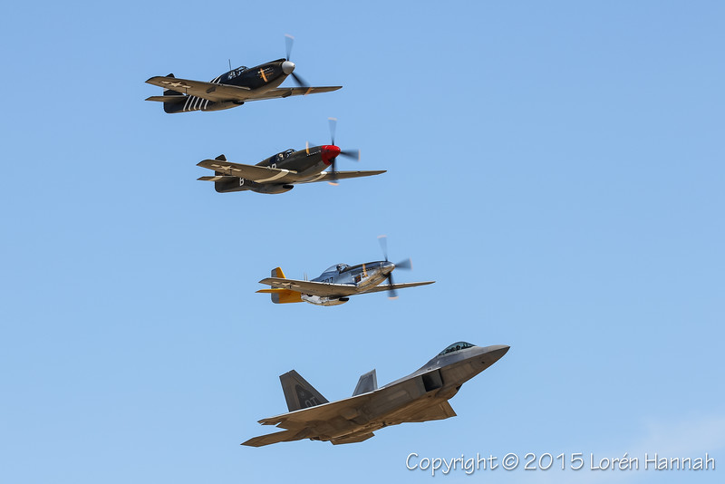 HERITAGE FLIGHTS - Planes of Fame 2015 Airshow - Chino, CA