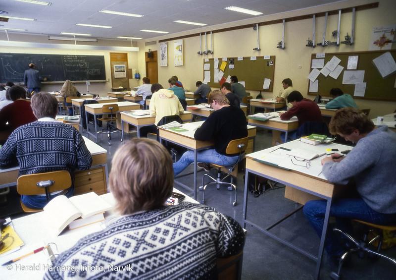Narvik ingeniørhøgskole. Bilde tatt til slides-serie for å promotere skolen i ulike sammenhenger.
