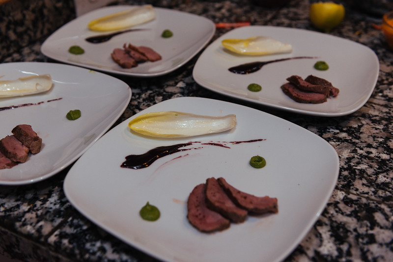 duck breast with wine reduction