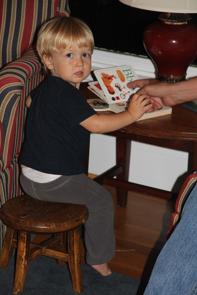 stools were a big hit with Elliot