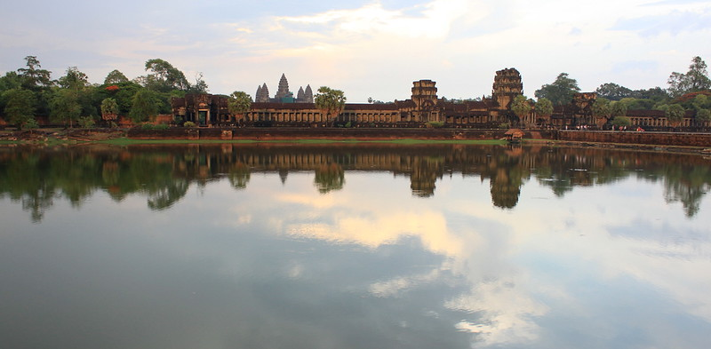 Angkor Wat just before sundown