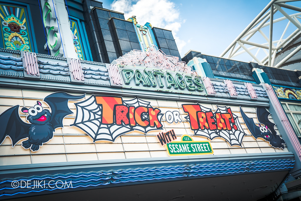 Halloween Horror Nights 7 Before Dark 2 Preview Update / New Show at Pantages Hollywood Theatre - Trick or Treat with Sesame Street - marquee