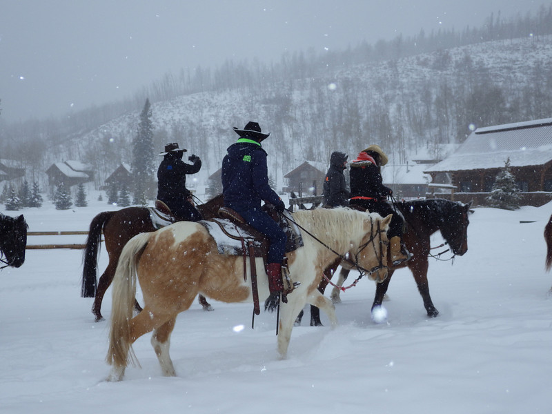 . A group heads out on a ride from Vista Verde Guest Ranch in Clark. (Photo provided by Vista Verde Guest Ranch)