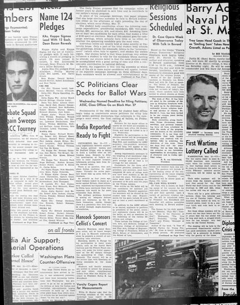 Daily Trojan, Vol. 33, No. 91, January 19, 1942