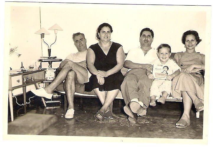 Dundo - 1957 - João Silva, Judite Silva, Aires Marques, Quim Quim Silva Neves e Felicidade Silva Neves