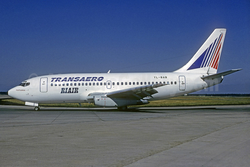 Riair (Riga Airlines) - Transaero Airlines Boeing 737-236 YL-BAB (msn 22032) MUC (Christian Volpati Collection). Image: 932379.