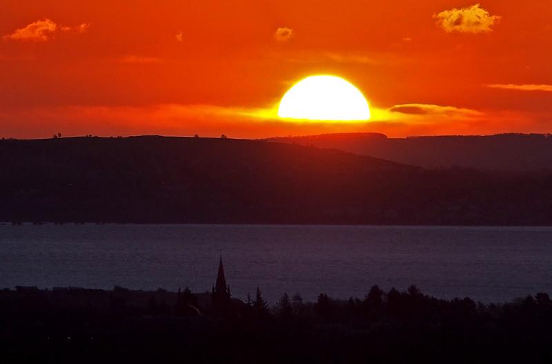 Sunrise over Fife.  8.40am, 16/01/15