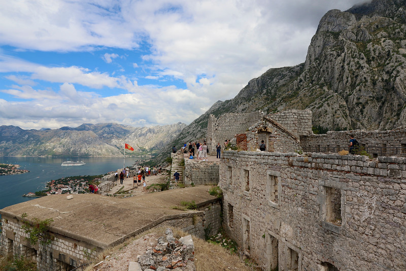 Atop St. John Fortress which dates from the 9th century -  Kotor, Montenegro