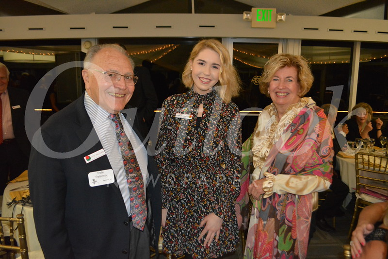 Rose Queen Camille Kennedy with Pete and Cathy Palermo