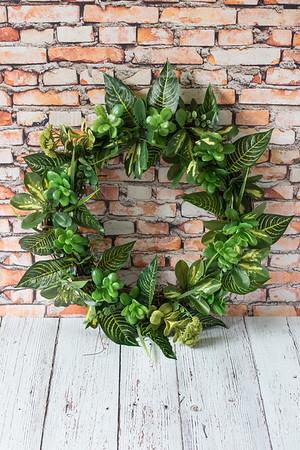 DIY Faux Greenery Wreath