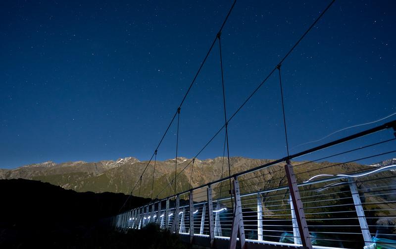 Frankieboy Photography |  Light Trails On Bridge | Hooker Valley New Zealand
