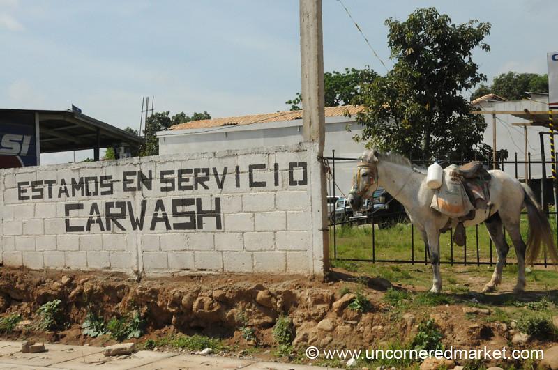 Carwash Sign - Gracias, Honduras