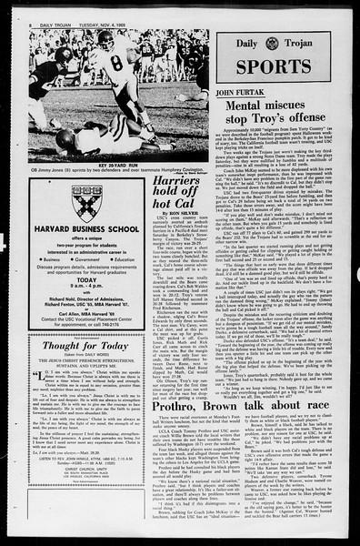 Daily Trojan, Vol. 61, No. 36, November 04, 1969