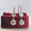 3.07ctw Double Old European Cut Dangle Earrings 3