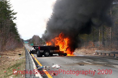 Rt. 2 Truck FIre - Apr. 7th, 2009
