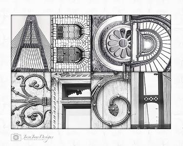 4x6 Architectural Letter Photos