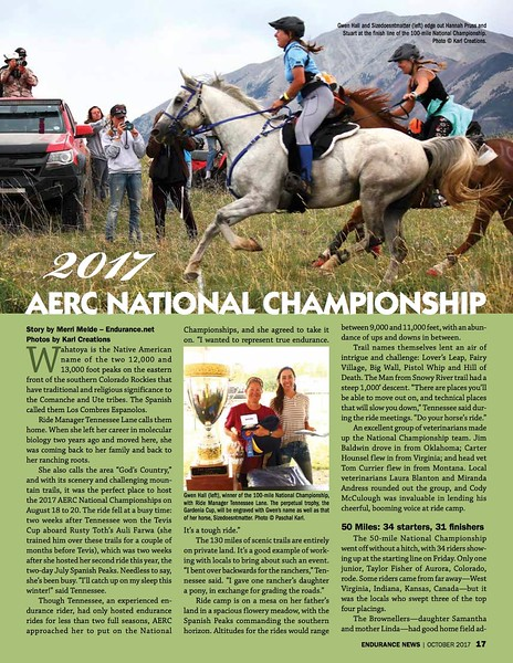 Endurance News: 2017 AERC National Championship