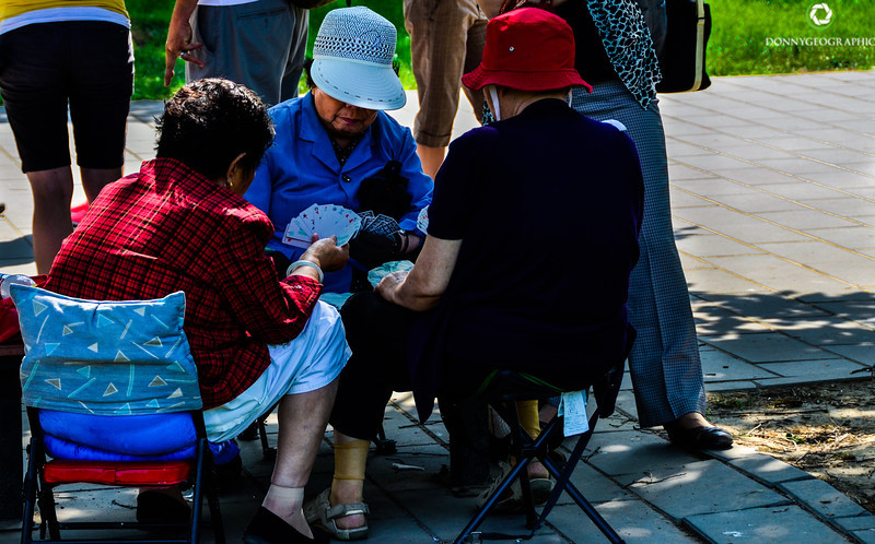 Afternoon Cards at The Summer Palace