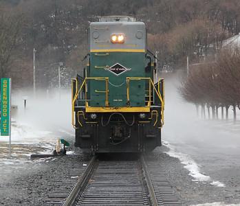 Strange Fog, Train, Tracks, Center of Town, Tamaqua (12-22-2013)