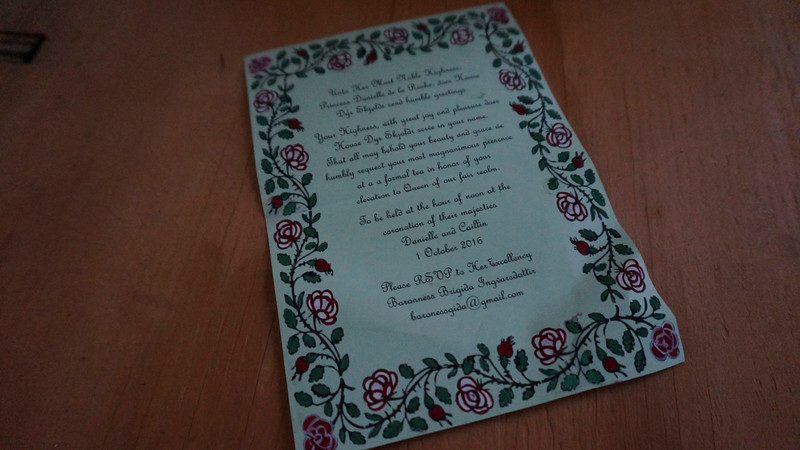 invite to the Rose's Tea