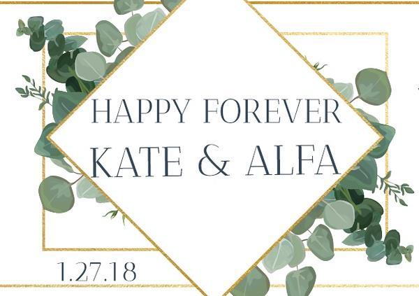 Kate & Alfa's Wedding
